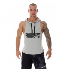 Poundout tank top bokserka z kapturem Barbells