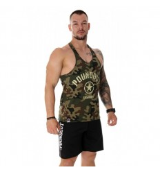 Poundout tank top Stringer FORCE moro